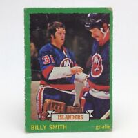 1973 74 OPC O Pee Chee Billy Smith 142 New York Islanders Hockey Card E669