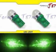 LED 5050 Light 2825 Green Two Bulbs Side Marker Map Step Door Park Trunk Festoon