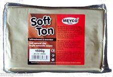 1,5 Kg Soft Ton  weiß  Modelliermasse lufthärtend, brennbar (3,00€/Kg)