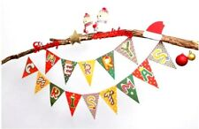 Merry Christmas Flags Bunting Banners Party Home Decor Party Flags