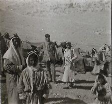 Bédouins Palestine Plaque de verre stereo ca 1930