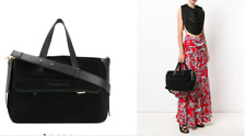 NWT$1870 J.W. Anderson Tool Leather Trimmed Suede Black Tote