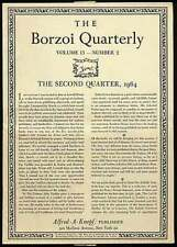 Borzoi Quarterly Volume 13 Number 2 The Second Quarter 1964 / First Edition