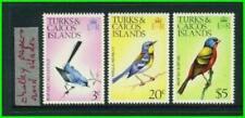"Turks & Caicos - 1973 Bird Issue w/Wmk ""Diagonal"" - SG 454w,459w,464w MNH 20"