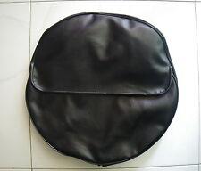 """Vespa or Lambretta 10"""" Wheel Cover. Black with storage pocket."""