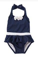 NWT Gymboree Swim Shop Size 2T Navy Blue Halter Flower One-Piece Swimsuit