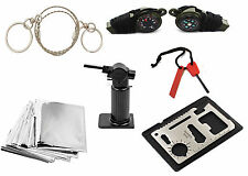11pcs Emergency Survival Camping Hunting Kit Fire Starter Saw Blanket hiking kit