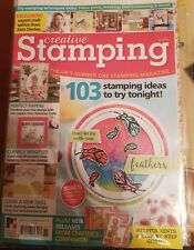CREATIVE STAMPING #51 VINTAGE STAMP SET FEATHERS FLOWERS BUTTERFLIES BIRD & NEST