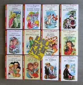 ENFANTINA , Rouge et Or Dauphine, LOT de 14 volumes . Années 1960/1970 TBE .