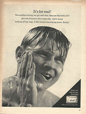 """Dial Soap Original 1967 Vintage Ad - Handsome Man in Shower """"It's For Real!"""""""