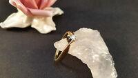 Ring  Goldring  585er  Brillant 0,1 ct  Gelbgold Weißgold Größe 62