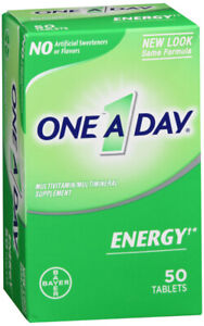 ONE A DAY Energy multivitamin supplement 50 Ct helps support mental alertness