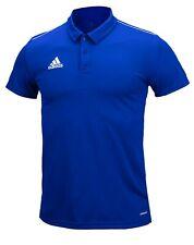 Adidas Men Core 18 Polo Shirts Training Blue T-Shirt Casual Tee Jersey Cv3590