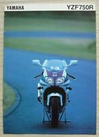 YAMAHA YZF750R MOTORCYCLE Sales Brochure c1993 #3MC-YZF750R-93E
