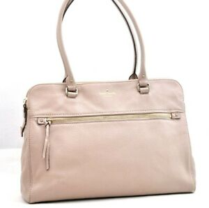 Authentic Kate Spade Shoulder Bag Leather Pink 94987