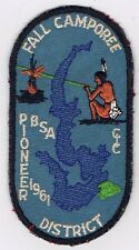 Activity Patch Fall Camporee 1961 Pioneer District BLK Brd BLU Bkg 500804