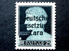 ITALIA REGNO OCCUPAZIONE TEDESCA ZARA 25 L 1943 MNH** CV € 97.500 - ITALY ITALIE
