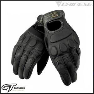 Dainese BlackJack Unisex Black Leather Motorcycle Motorbike Gloves XS M L XL XXL