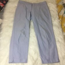 """J. Crew Factory Skimmer Pants City Fit Size 8 Cropped Inseam 26"""" FLAW"""