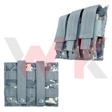 Tactical Triple Pistol Double Stack Magazine Clip Pouch MOLLE PALS Digital Camo