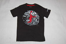 Boys S/S Tee Shirt Black Performance Tee Athletic Basketball Slam Dunk Xxl 18-20