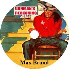 Gunman's Reckoning Max Brand Western Audiobook  in English on 1 MP3 CD Free Ship