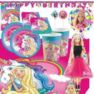 Barbie Birthday Party Supplies Dreamtopia Unicorn Girls Doll Balloons Decoration