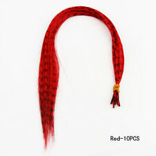 KSY Hot 10 Whiting Grizzly Feathers Hair Extensions Saddle Long Skinny Bulk Best