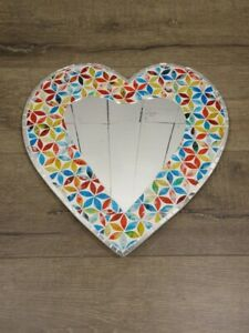 Mosaic Floral Mirrors  Beautiful Colours. Handmade, Fair Trade Diff Designs 1-2K