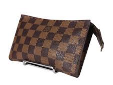 LOUIS VUITTON Damier Canvas Leather Pouch Accessories Bag LP3575