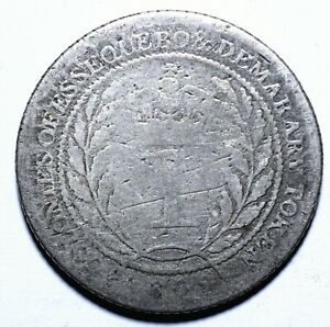 1809 Essequibo and Demerara (Guyana) 1 Guilder - George III - Lot 479