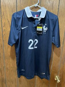 NIKE MORGAN SCHNEIDERLIN SOCCER JERSEY SMALL FRANCE 2014 WORLD CUP AUTHENTIC