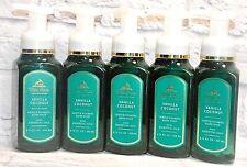 5 BATH & BODY WORKS WHITE BARN VANILLA COCONUT GENTLE FOAMING HAND SOAP WASH