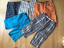 Lot of 5 board shorts, adjustable waist, size US 18