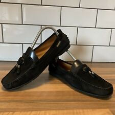 Russell & Bromley Mens Black Suede Leather Loafer Tassel UK 6.5 EU39.5 WORN ONCE