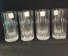 4 Cut Glass Bar Ware Drinking Glasses