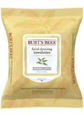 Burt's Bees Normal Skin Facial Cleansing Towelettes White Tea Extract 30ct wipes