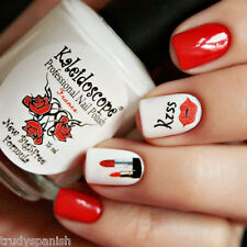 San Valentino Decal Adesivi Nail Art Decorazione Love Labbra Stelle Di Bocca