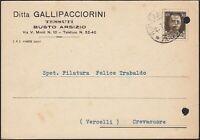 AA6547 Tessuti Ditta Gallipacciorini - Busto Arsizio 1941 - Cartolina postale