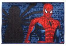 Tappeto Spiderman Uomo Ragno Blu-Rosso 120x80 Antiscivolo Cameretta Marvel