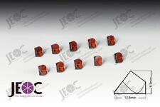 Copper Coated half inch Corner Cube Prism, 12.7mm Trihedral Retroreflector*10