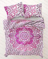 ombre mandala doppia parete arazzo hippie copriletto appeso cotone indiano tiro