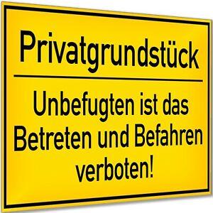 Privatgrundstück Betreten und Befahren Verboten Schild Hinweisschild