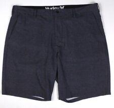 mens charcoal stripe HURLEY PHANTOM hybrid shorts walking board golf 40 x 9.5