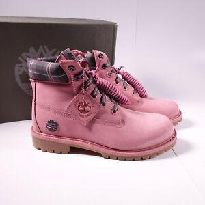 Size 6.5Y / Women's 8 Timberland 6 Inch Premium Waterproof Boots Medium Pink