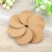 Natural Plain Cork Coasters Round Circle Drink Cup Mat Pack of 100 for Household