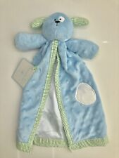 NWT Mudpie Blue Puppy Lovey Security Blanket Mud Pie Stuffed Animal