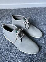 Ecco Grey Leather Ankle Boots Uk 7 EU 40 Vgc