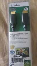 Belkin High Speed HDMI Cable With Ethernet. 6 feet. 2m NEW IN BOX
