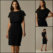 Wallis Pencil Dress Size 20 | Black Fitted Tiered Style | BNWT | £75 RRP | New!